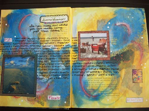 Ode to Summer Journal Page