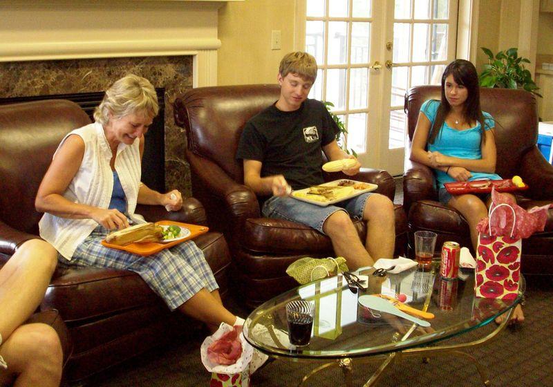 19. Christy, Ethan & Melinda enjoy the food