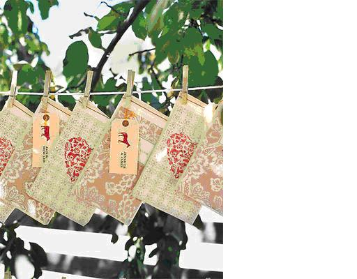 Gift bags clothesline