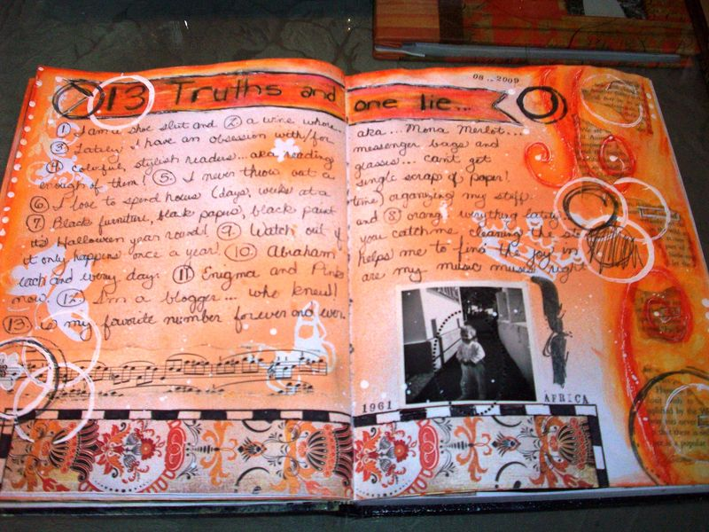 TM Summer Art Journal Day 10 Telling Tall Tales