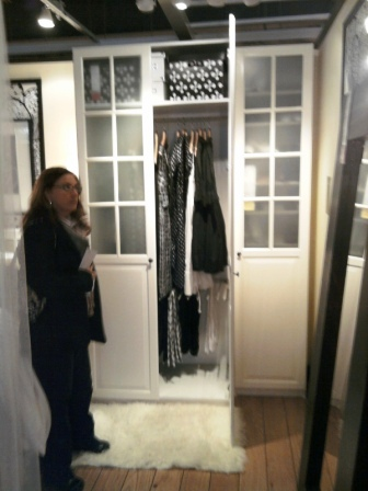 Compressed armoire closet storage