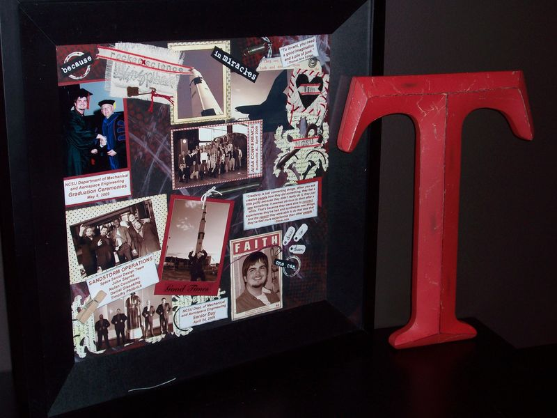 14. Tim's UNCC Collage Frame w'Monogram