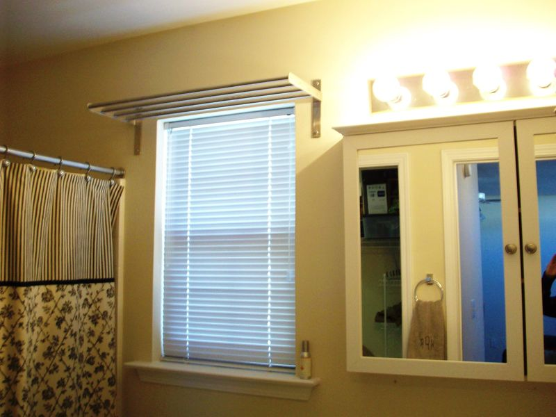 07. towel bar over window