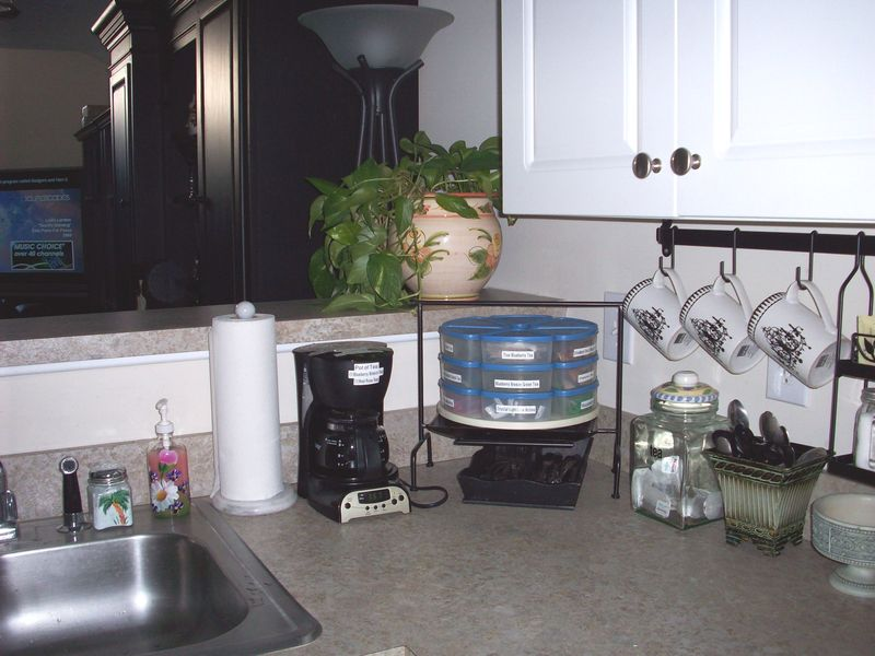 14. Kitchen counter right side of sink