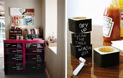 10. chalk board paint to organize