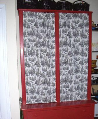 11. Red Cupboard New Curtains