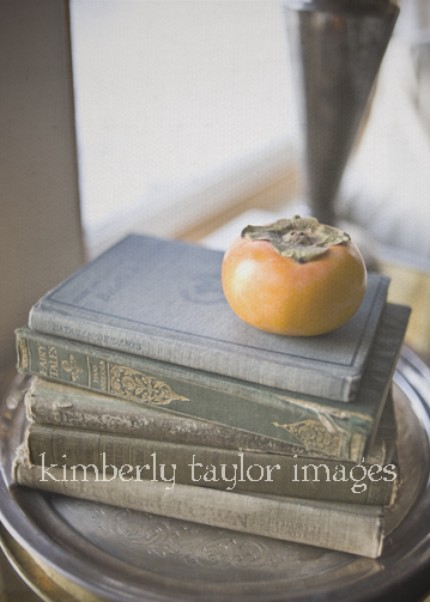 Autumn orange on books