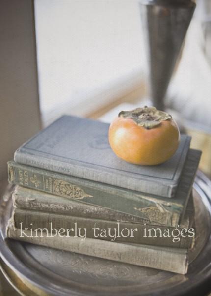 Autumn orange on books