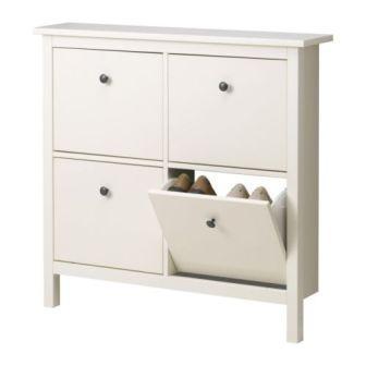 Hemnes Shoe Cabinet open