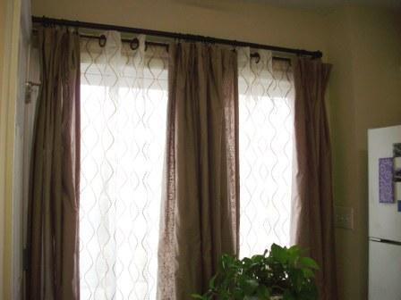 Curtains Ideas curtain rod close to wall : Wednesday's Workbook: WFMW's Curtains n'Bookshelves (con-tain-it)