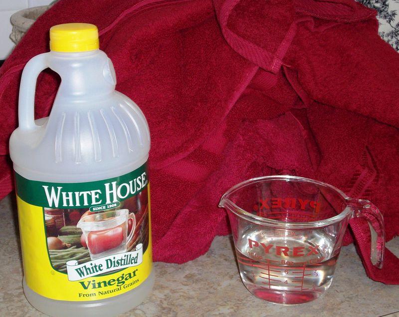 Red Towels Vinegar RInse 005