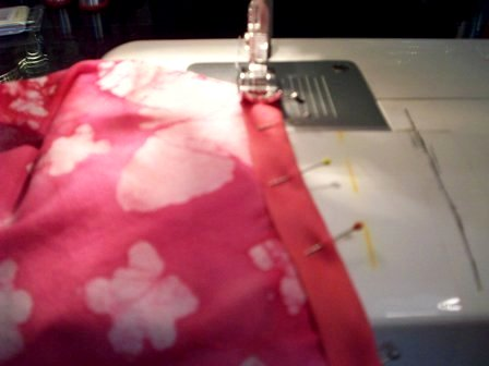 11. Stitch seambinding at neck
