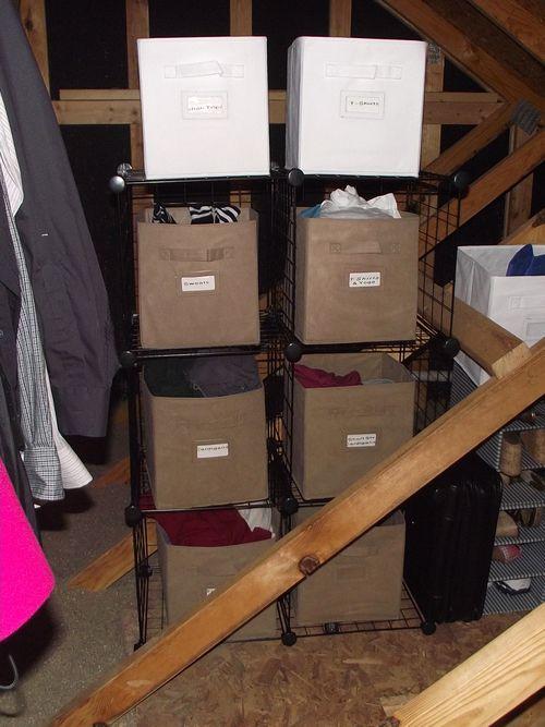 06. Bin Storage in Attic