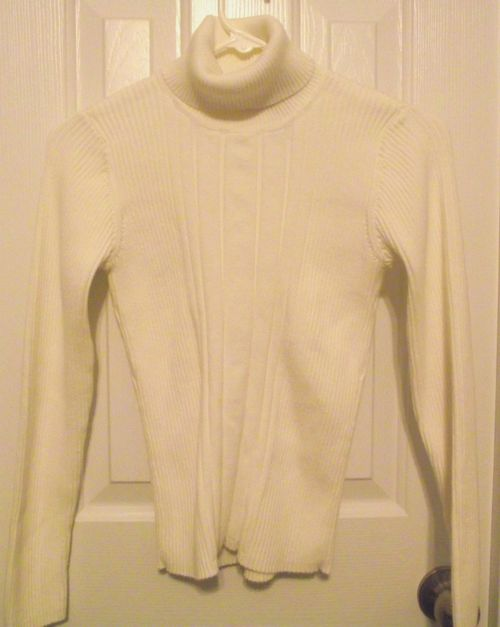 16. Cream Cable Turtle Neck