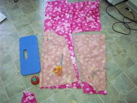 01. Lay out fabric