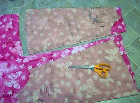 02. Cut out pattern'fabric