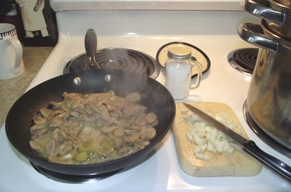 02. Sautee Mushrooms n'onions