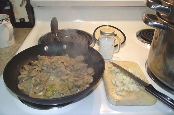 02. Sautee Mushrooms n'onions