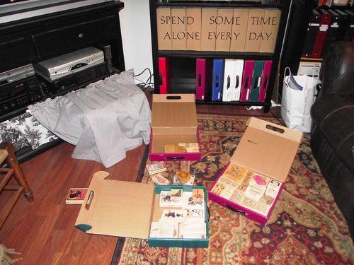 02. Livingroom Bookcase Stamp Storage
