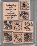 13. Fall Etchings 9 pcs $6.00