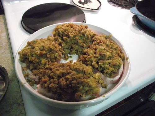 07. Put Stuffing on Chops