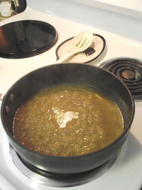 15. Separate sauce
