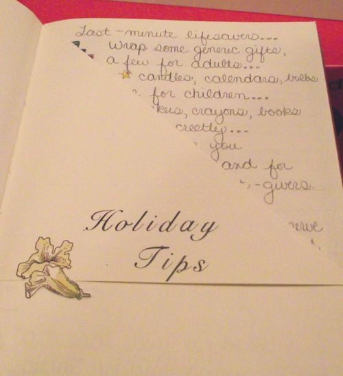 04. Holiday Tips Sections
