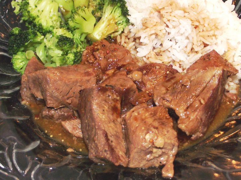 12. Serve w'broccoli  n'rice