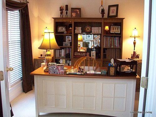 13. white desk