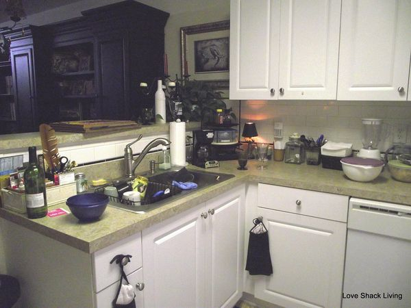 01. messy kitchen counter