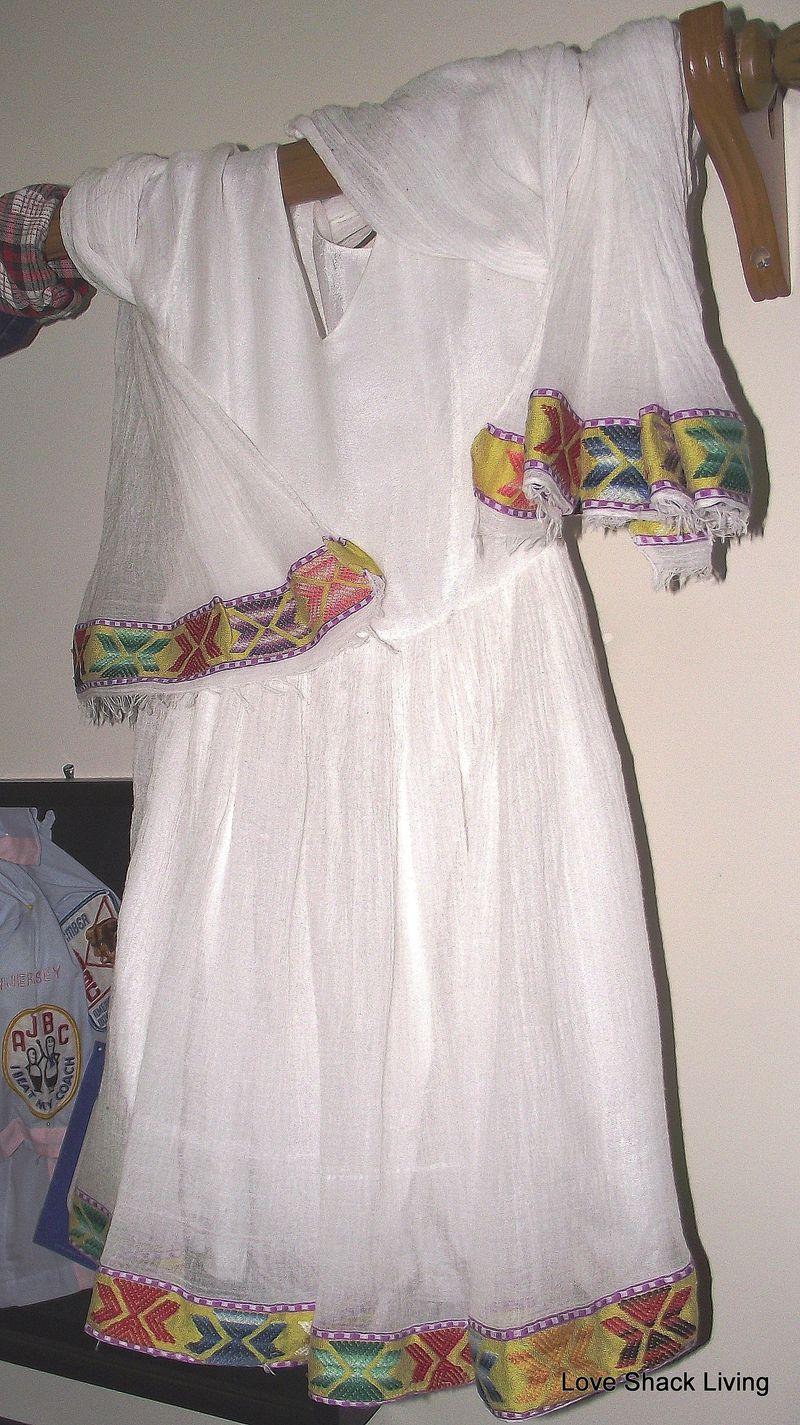 14. Dress on rod