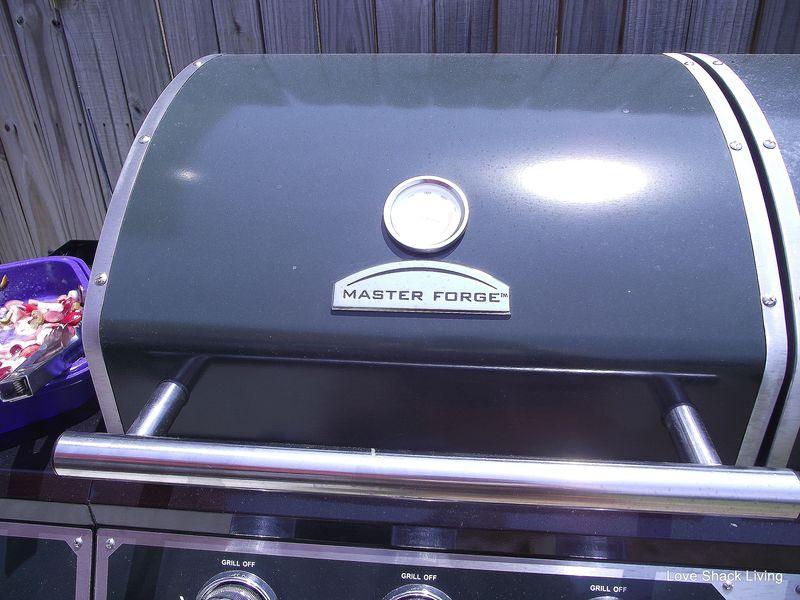 10. Close grill lid