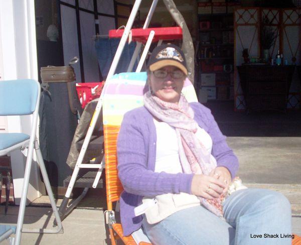 Yard Sale Bobbi Takin' A Break