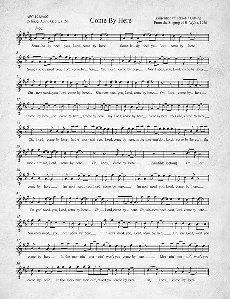 460px-Come_By_Here_Kumbaya_Transcription_of_1926_recording