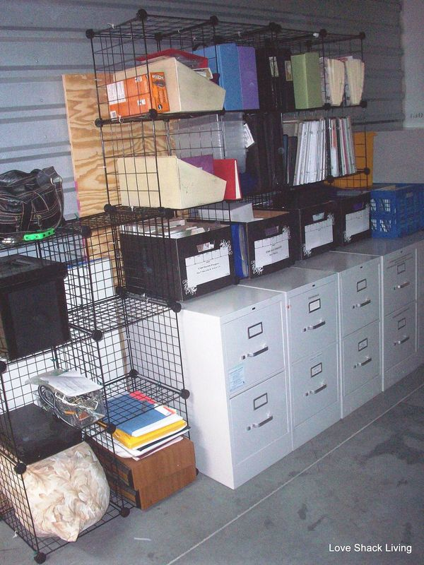 Wire Cubes Inside These File Cabinets
