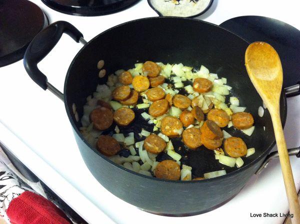 05. Add sausage