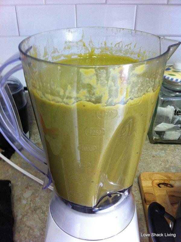 10. Green Pea blender soup
