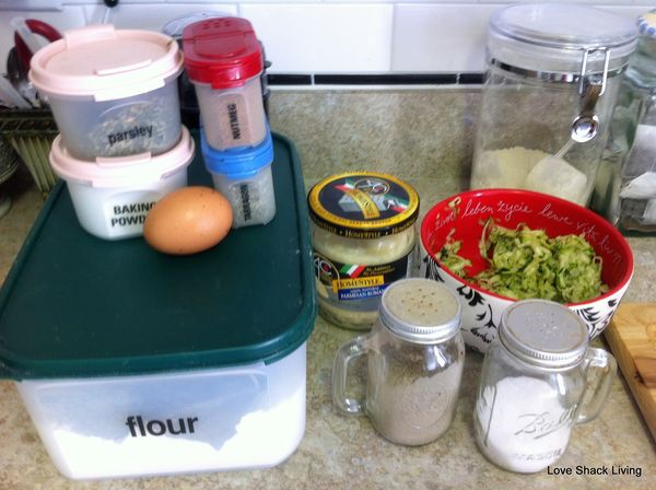 01. Gather ingredients fritters